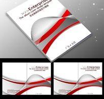 企业红色画册PSD下载