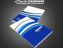 蓝色动感曲线封面设计素材