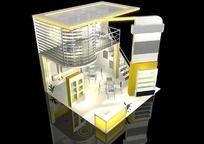 9款 3D模型之特装展位模型下载 展台展厅模型下载