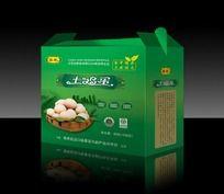 绿色土鸡蛋包装箱设计