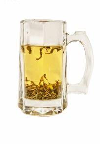 绿茶玻璃茶杯扣底ps素材 PSD