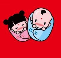 双胞胎宝宝ps鼠绘图 PSD