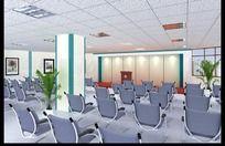 会议室模型vary材质效果图