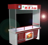 熟食柜模型效果图