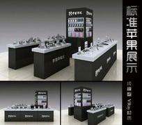 标准苹果展示柜3d模型