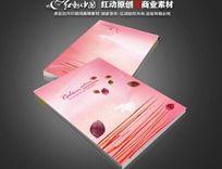 粉色花瓣美容画册封面