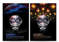 尊贵奢华手表海报设计PSD分层