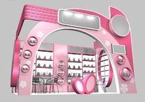 粉红色化妆品展厅3d模型