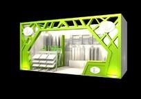 绿色古典展台特装max模型设计 max