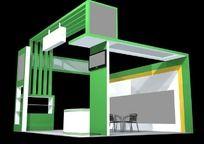 绿色科技产品展厅max模型