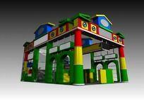 儿童产品展厅3d模型设计