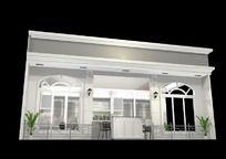 灰色展厅3d模型设计