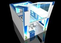 14款 蓝色科技产品展厅max模型设计下载
