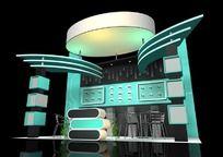 蓝色科技产品展厅max模型