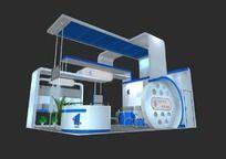 蓝色科技展台模型设计