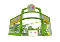 绿色展台特装设计模型 max