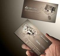 建筑装饰公司名片设计 PSD