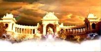 10款 梦幻天鹅湖宫殿婚庆视频LED屏幕背景素材下载