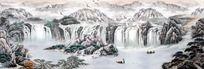 山水风景国画图片 PSD