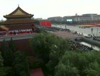 天安门广场航拍高清视频实拍背景素材