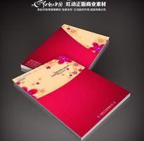 红色花朵画册封面
