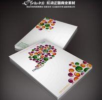 时尚色彩画册封面素材
