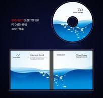 蓝色水滴科技IT光盘封面设计psd