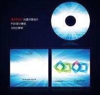 蓝色科技IT光盘封面设计psd