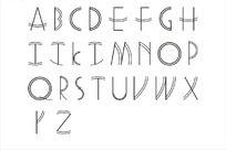 英文母波形花边字
