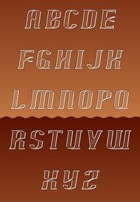 透明质感字母
