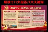 解读十八大报告八大关键词宣传栏设计