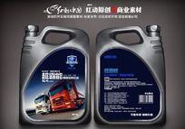 高级润滑油标签设计素材