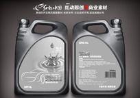 高级润滑油贴 油桶标签设计 PSD
