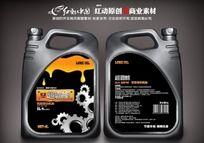 润滑油产品不干胶标签设计