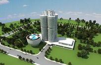 宝马公司大楼3d模型