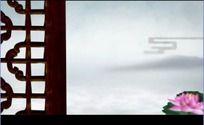 中国风山水动画花屏荷花高清视频背景素材