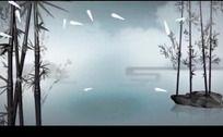 中国风山水动画竹子高清视频背景素材