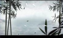 中国风山水动画竹子竹叶高清视频背景素材
