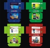 手机彩盒包装设计模版 CDR