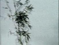 中国风水墨化(竹子鱼、飞墨)视频素材
