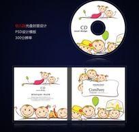 幼儿园招生培训光盘封面设计psd