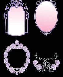 矢量欧式珠宝高贵边框相框镜框