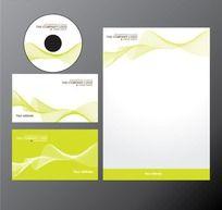 黄绿色光盘封套信纸设计