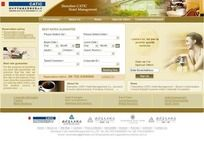 酒店网站首页设计 PSD