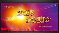 2013年新春团拜会背景图