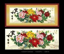家和富贵牡丹花装饰画