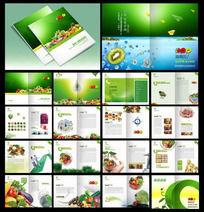 绿色有机食品宣传册 PSD