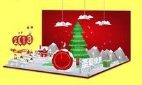 flash圣诞节3D立体贺卡 FLA