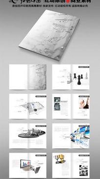 灰色科技画册版式设计