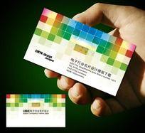 12款 电子行业名片设计PSD下载